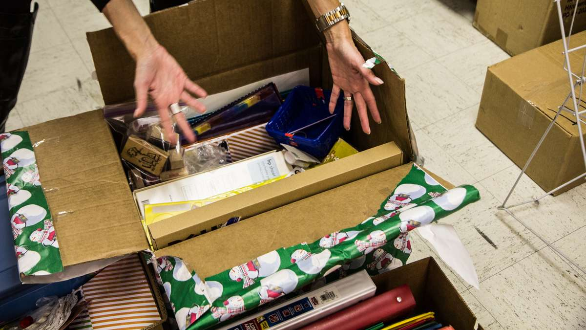 Suburban schools donated their extra supplies to Richard Wright elementary school.