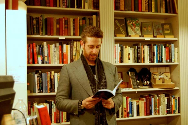 <p><p>Adrian Van Young reads from his newest collection of short stories, published by Black Lawrence Press. (Anna Flint/for NewsWorks)</p></p>