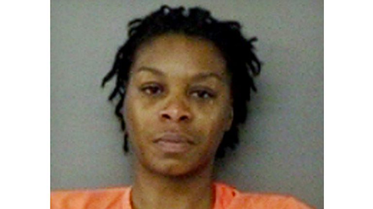Booking photo of Sandra Bland.