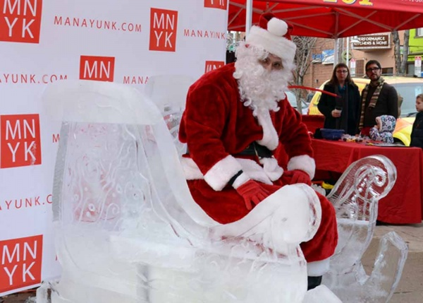 <p>&lt;p&gt;Santa made a guest appearance on Main Street this weekend to test out his new ice sleigh. (Jimmy Viola/for NewsWorks)&lt;/p&gt;</p>