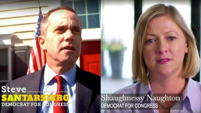 Steve Santarsiero and Shaughnessy Naughton have launched their first ads in the race for the Democratic nomination for U.S. Congress, representing Bucks County and parts of Montgomery County.