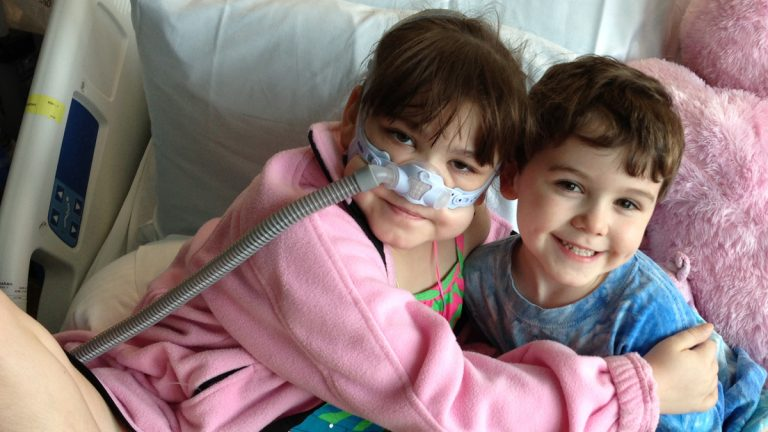 Sarah Murnaghan is shown before her transplant surgery. (Image courtesy of Murnaghan family.)