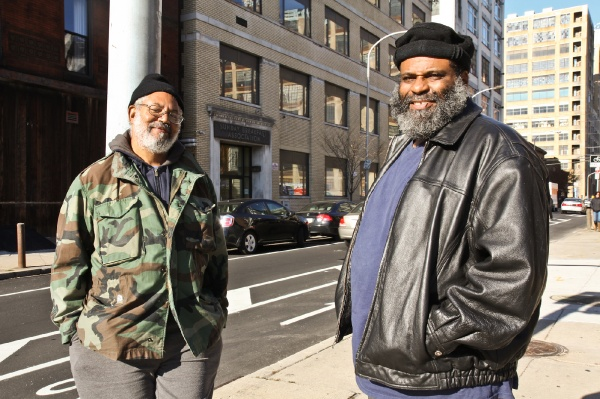 <p><p>Bernard Choice and Jurdell Davis have dined at the Sunday Breakfast Rescue Mission at 13th and Vine streets in Center City Philadelphia. The mission provides 3 meals a day, 365 days a year. (Kimberly Paynter/for NewsWorks)</p></p>