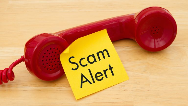 "<a href=""https://www.bigstockphoto.com/image-151458713/stock-photo-getting-a-call-that-is-an-scam-a-retro-red-phone-with-yellow-sticky-note-on-a-desk-with-text-scam-alert"">red phone (bigstock.com)</a>"