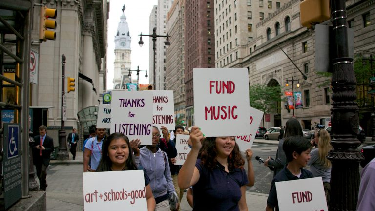 The Picaso grants will help to make up some of the funding that has been drained from the Philadelphia school district's arts programs during the current budget crisis. (NewsWorks file photo)