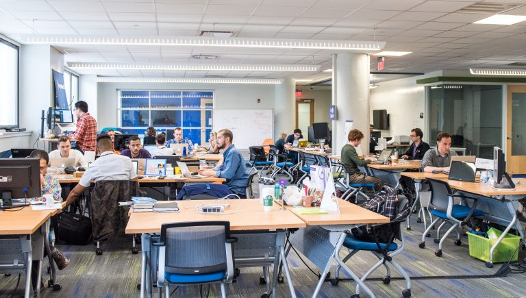 A collaborative workspace at the University City Science Center