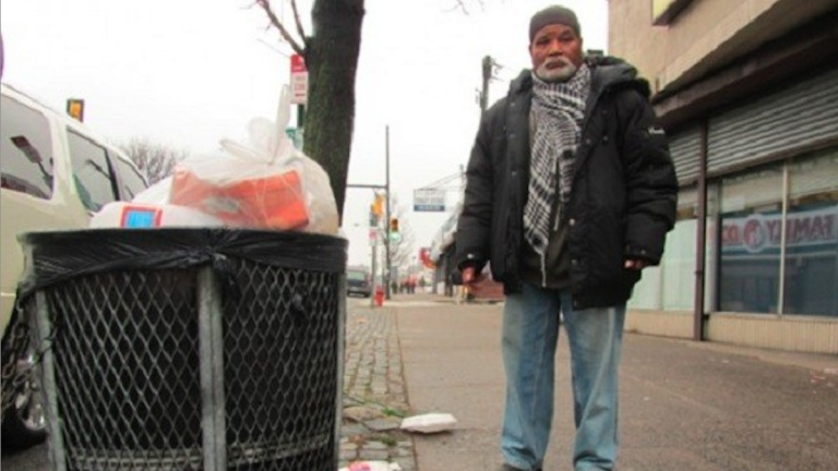 Omar Gray was a street-cleaning mainstay for the Germantown Special Services District until funding dried up. Litter in the business corridor looks to be a focus of the revamped group. (Aaron Moselle/for NewsWorks)