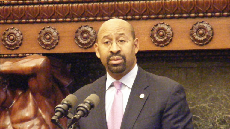 Mayor Michael Nutter on Tuesday decried state and federal officials for balancing budgets at the expense of cities. (NewsWorks file art)