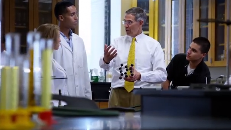 A scene from Rush Holt's campaign ad. (Courtesy of Holt for Senate)