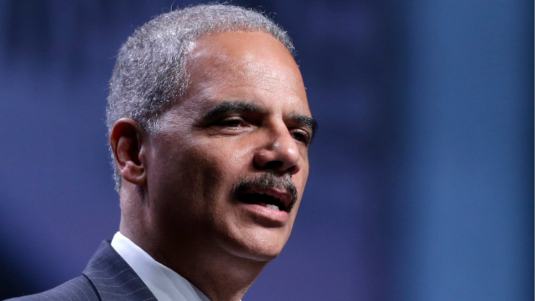 Attorney General Eric Holder announced at the Pennsylvania Convention Center Thursday the Justice Department is opening a new front in the battle for voting rights in response to a Supreme Court ruling. (AP Photo/Matt Rourke)