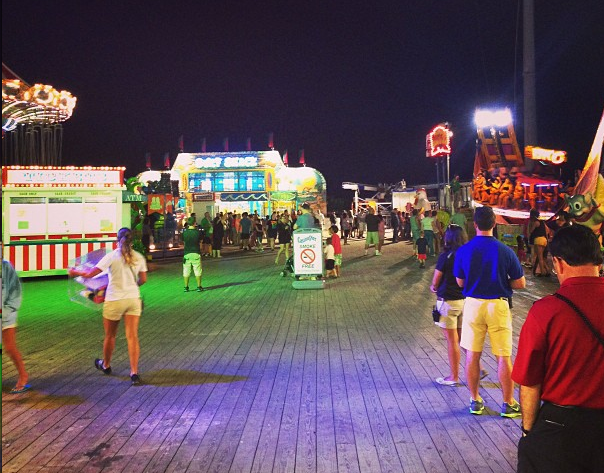 For the first time since Superstorm Sandy, rides were operational Friday evening at Casino Pier in Seaside Heights. (Photo: jusdecs via Instagram)