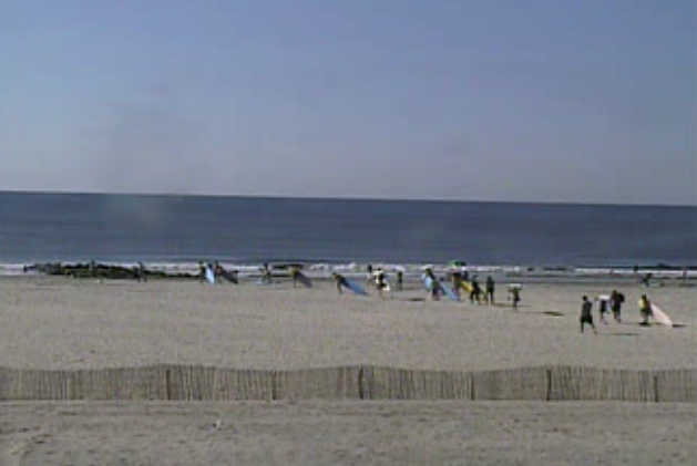 About 9 a.m. today in Ocean City, NJ.