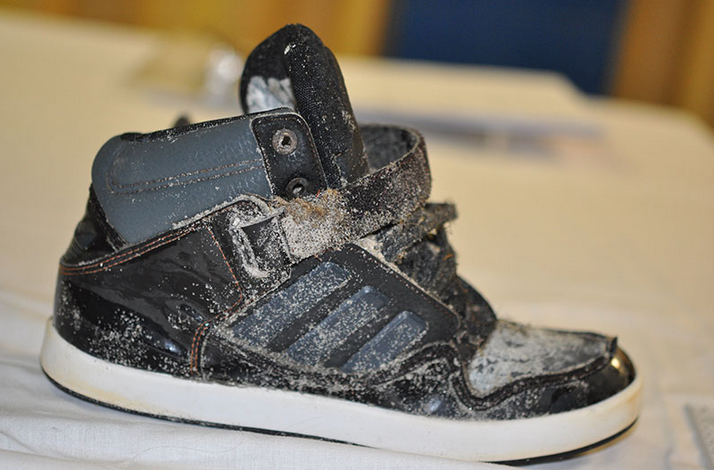 The shoe found by a fisherman at Ocean City's Corson's Inlet State Park Tuesday. (Photo: New Jersey State Police)