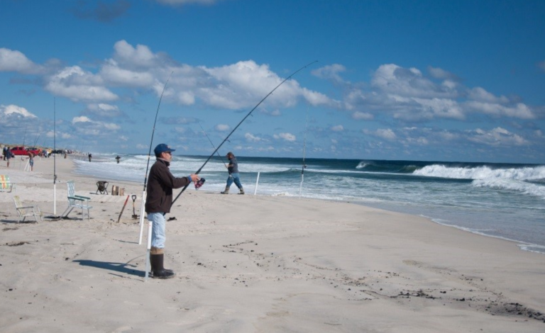 Fishing at Island Beach State Park. (NJDEP photo)