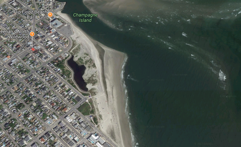 Beaches along the Hereford Inlet in North Wildwood. (Google image)