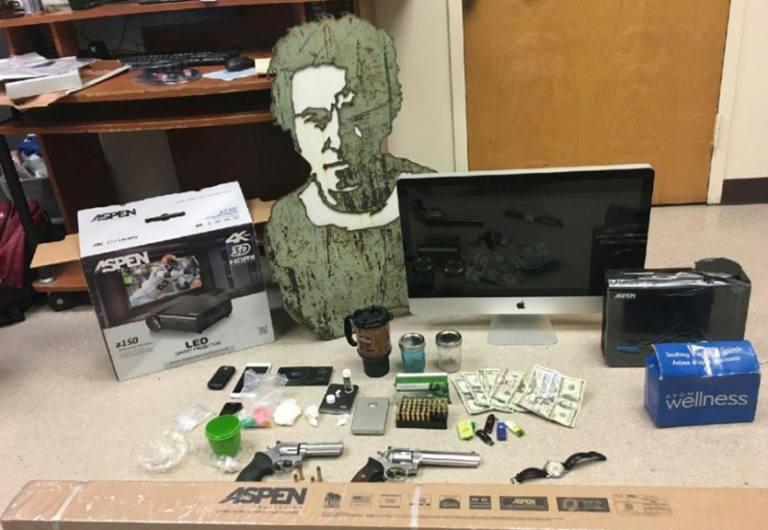 Items uncovered in a Feb. 17 Asbury Park raid. (Image courtesy of the Asbury Park Police Department)