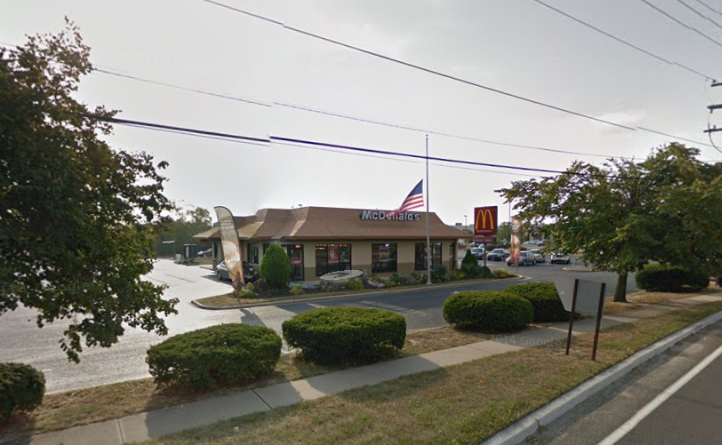 The McDonald's on Atlantic City Boulevard in Berkeley where two employees were attacked late Sunday evening. (Google image)