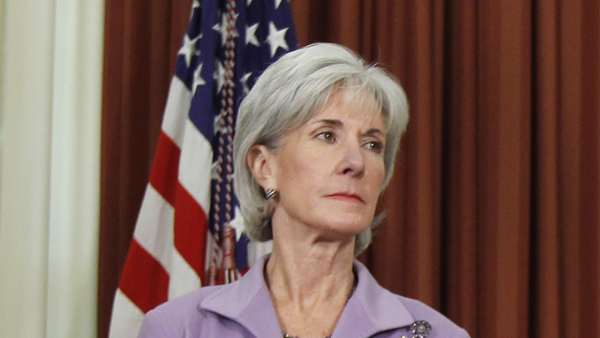 Health and Human Services Secretary Kathleen Sebelius is shown in the Oval Office in this 2011 file photo. (AP Photo/Charles Dharapak, file)