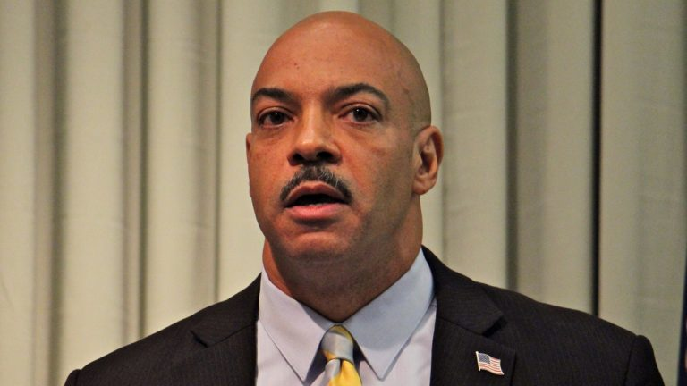 Philadelphia District Attorney Seth Williams faces a growing field of challengers in next year's Democratic primary.(Emma Lee/WHYY)