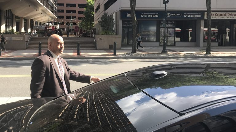 Philadelphia District Attorney Seth Williams leaves federal court Wednesday. (Bobby Allyn/WHYY)
