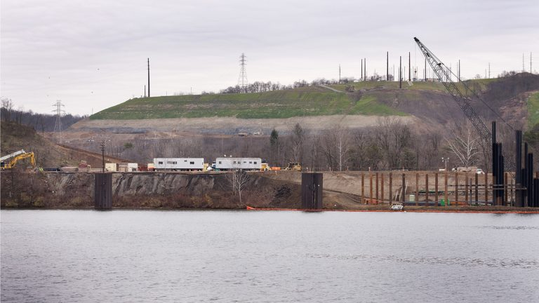 This 2015 photo provided by the Allegheny Conference on Community Development shows a former zinc smelting site where Shell Chemical Appalachia plans to build a petrochemical plant in Potter Township in Beaver County near Monaca
