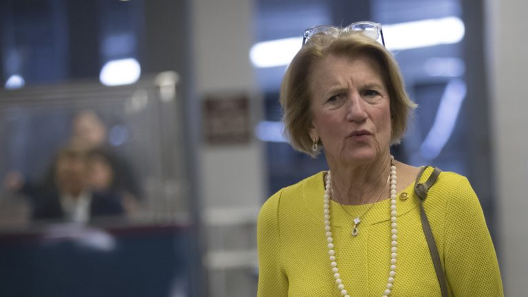 In this June 22, 2017, file photo, Sen. Shelley Moore Capito, R-W.Va., arrives to join Senate Majority Leader Mitch McConnell, R-Ky., who is struggling with senators like her who are opposed or wavering on the Republican health care bill. (AP Photo/J. Scott Applewhite, File)