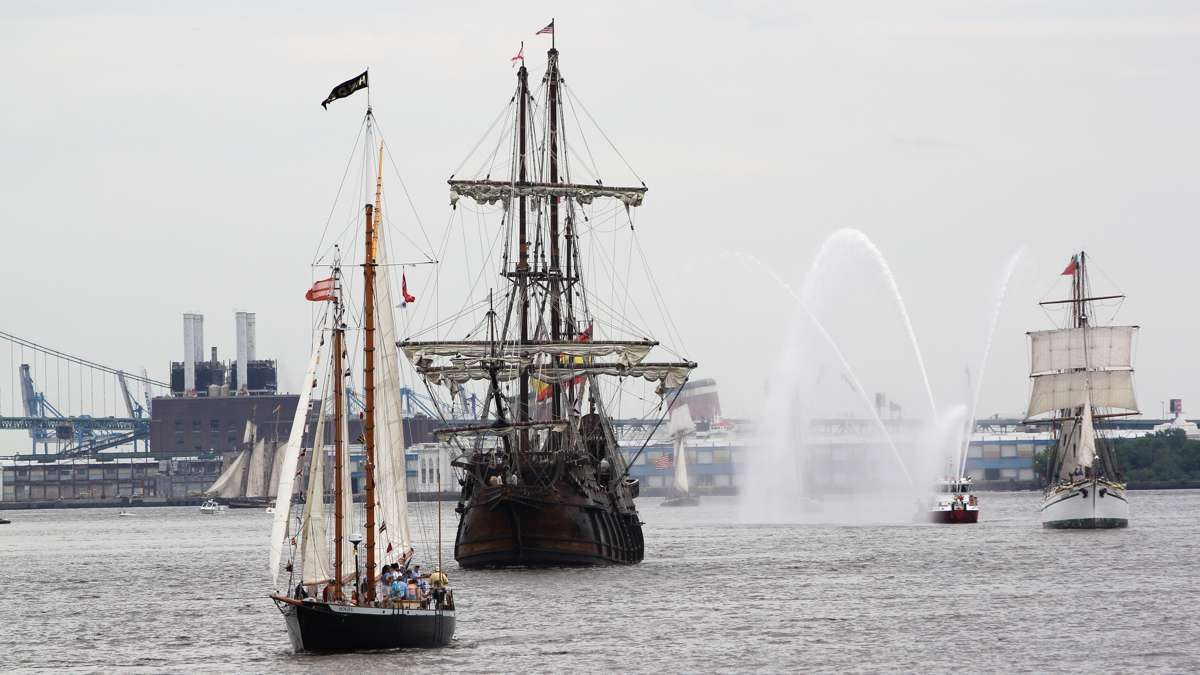 The tall ships arrive for a four day festival in Philadelphia and Camden. (Emma Lee/WHYY)