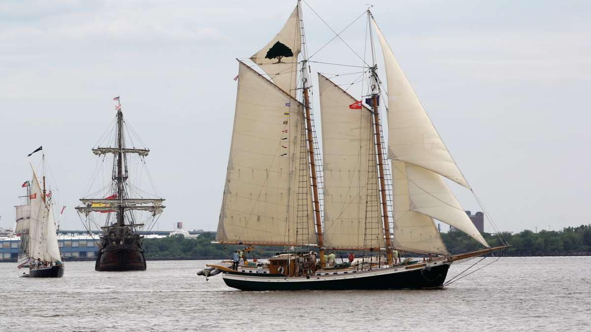 The Tree of Life, a gaff-rigged schooner from Newport, R.I. (Emma Lee/WHYY)