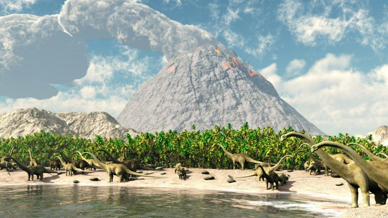 New research from a Princeton University team suggests that volcanoes may have helped hasten the die-off of dinosaurs 65 million years ago.(<a href=