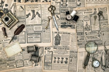 (<a href='http://www.shutterstock.com/pic-186286547/stock-photo-antique-accessories-sewing-and-writing-tools-vintage-fashion-magazine-for-the-woman-collectibles.html?src=csl_recent_image-1'>Ephemera image</a> courtesy of Shutterstock.com)