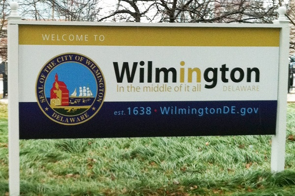 <p><p>The new welcome to Wilmington sign</p></p>