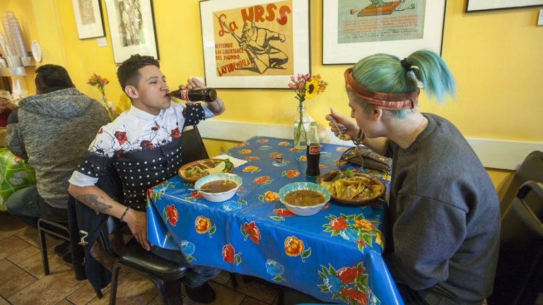 South Philly Barbacoa restaurant is featured in the latest episode of Grapple: Immigration, the Rust Belt and the Rise of Donald Trump. (Jessica Kourkounis/For Keystone Crossroads)