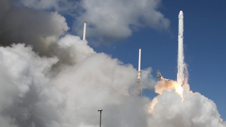 The SpaceX Falcon 9 rocket and Dragon spacecraft lifts off from Space Launch Complex 40 at the Cape Canaveral Air Force Station in Cape Canaveral, Fla., Sunday, June 28, 2015. The rocket carrying supplies to the International Space Station broke apart shortly after liftoff. (John Raoux/AP Photo)