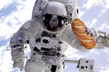 A concept photo illustrates what it could look like if an astronaut had freshly baked bread in space. (Courtesy of NASA/ Bake in Space GmbH)