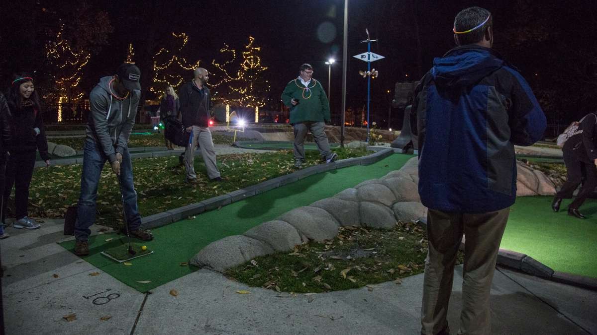 All of Franklin Square's regular attractions are open until 8 p.m. during The Franklin Square Holiday and Light Festival, including Square Burger, mini golf, and the carousel.