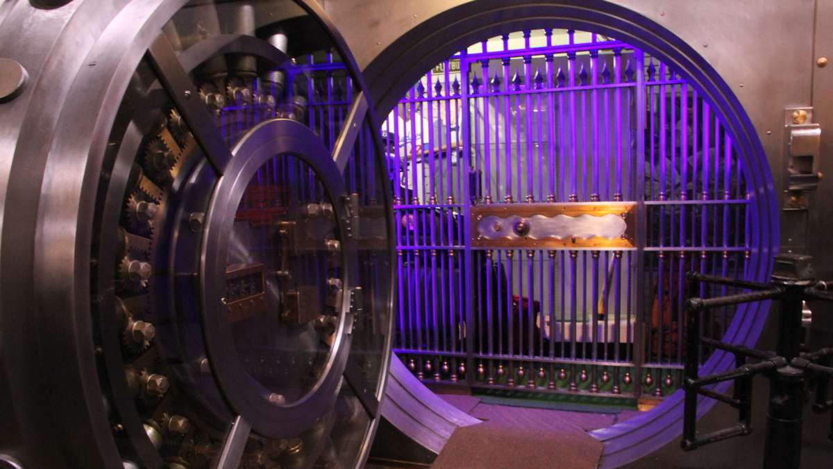 A massive vault at the back of the museum is used for storage, but may one day house the collection's most valuable items. (Emma Lee/WHYY)