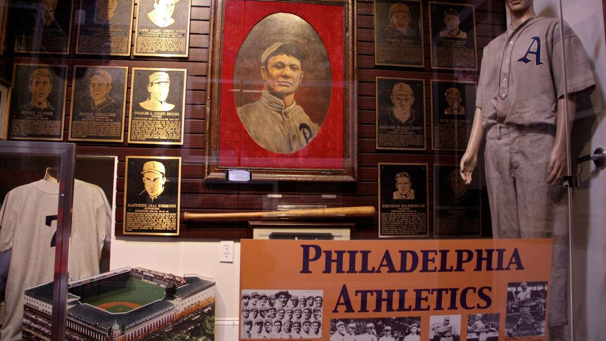 The museum includes a room dedicated to the Philadelphia Athletics baseball team. (Emma Lee/WHYY)