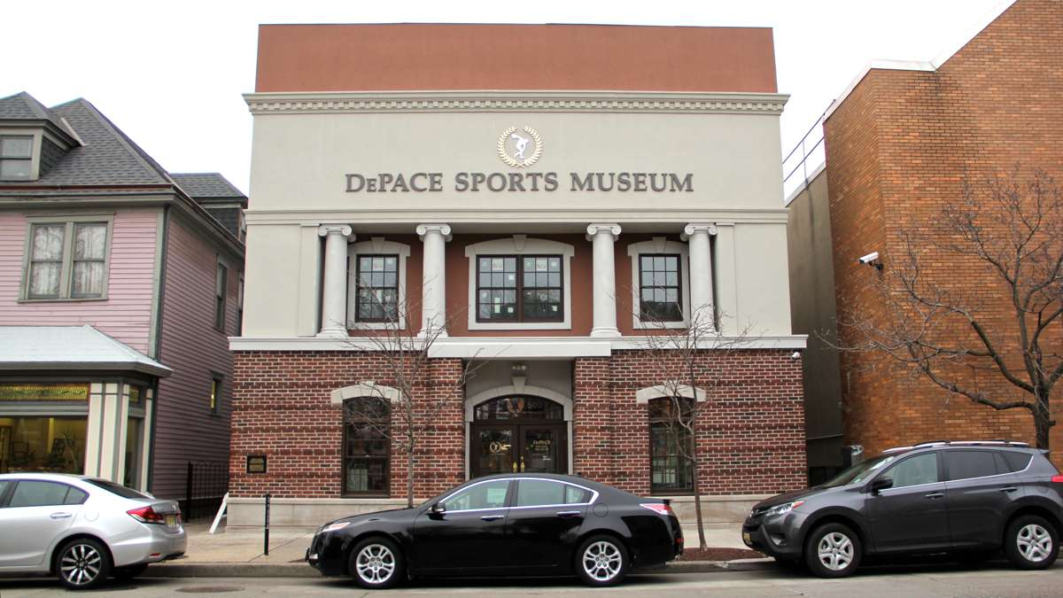 The DePace Sports Museum occupies a former bank on Haddon Avenue in Collingswood. (Emma Lee/WHYY)