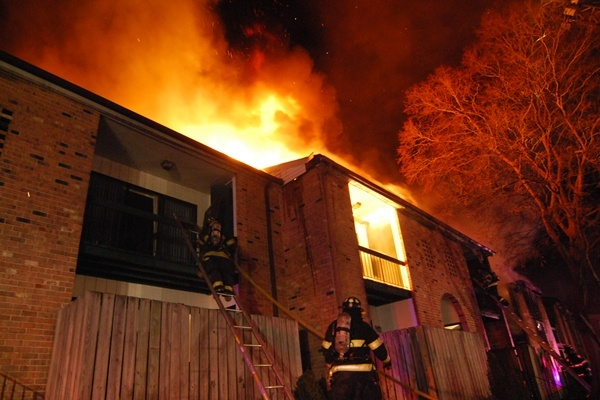 <p><p>Fire broke out at the Spring Run Apartment complex around 2 a.m. Wednesday. (John Jankowski/for NewsWorks)</p></p>