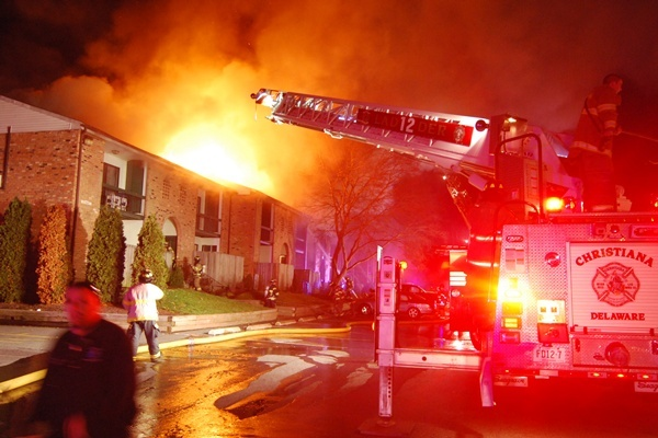 <p><p>Firefighters arrived at the Spring Run Apartment complex and found heavy smoke and fire around 2 a.m. (John Jankowski/for NewsWorks)</p></p>