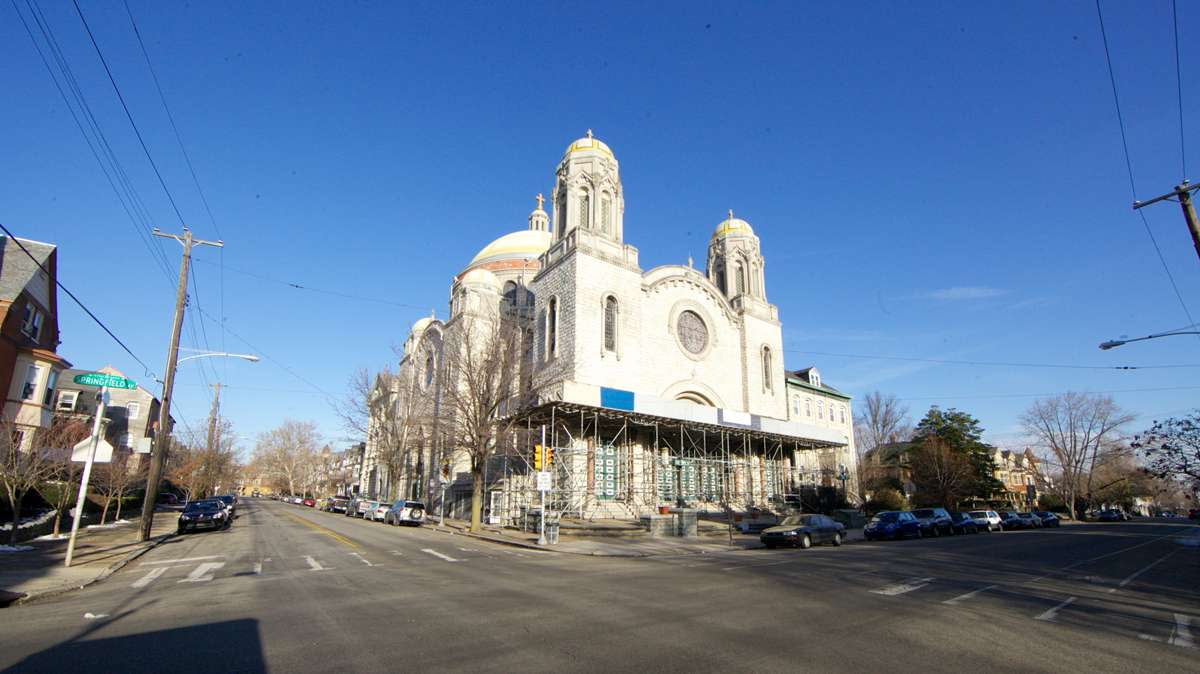 St. Francis de Sales Roman Catholic Church has almost completed its restorations, located at the corner of Springfield Ave. and South 47th St. (Nathaniel Hamilton/for NewsWorks)