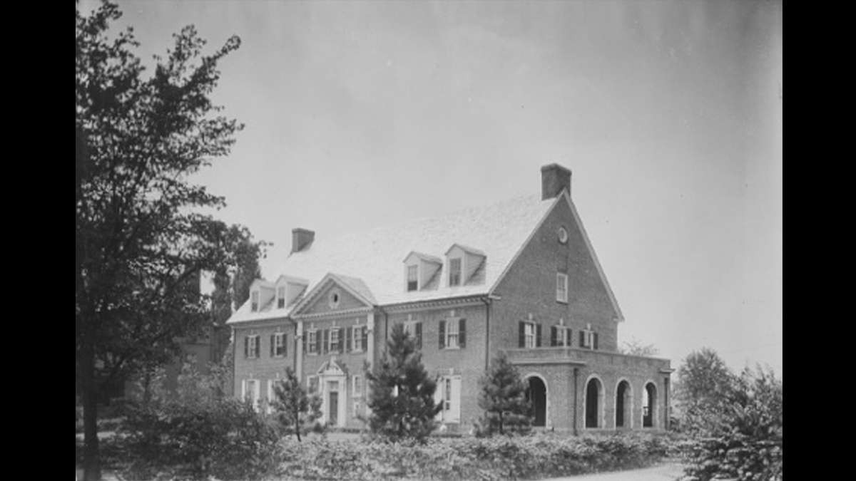 Sigma Nu fraternity house on Penn State Campus (Image courtesy of the Penn State University Archives)
