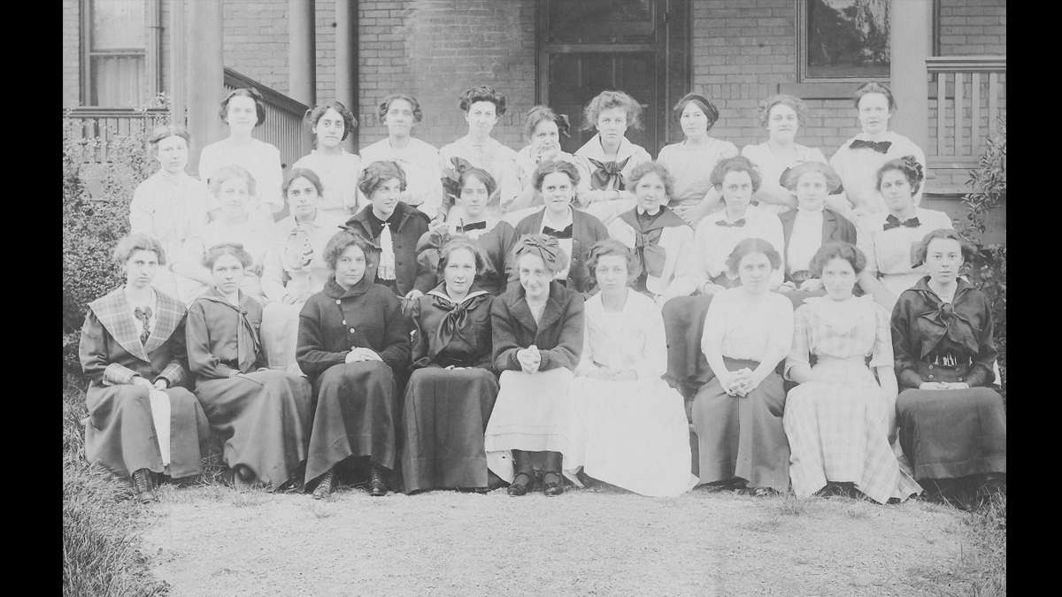 Penn State coeds circa 1911. (Image courtesy of the Centre County Historical Society)