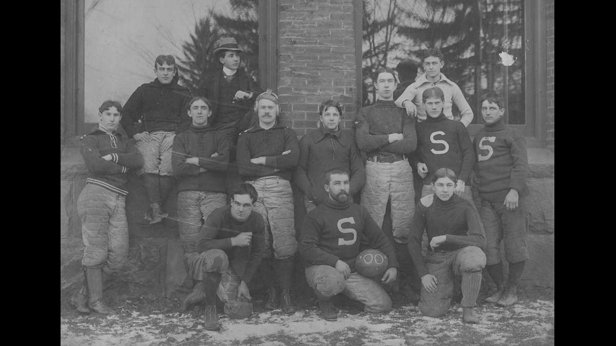 Penn State football team circa 1900. (Image courtesy of the Centre County Historical Society)