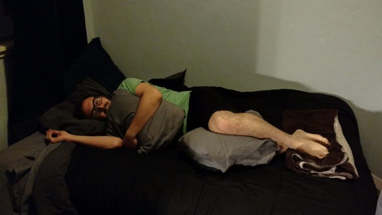 Zach Goldberg listens to Harry Potter on tape to fall asleep. (Andrew Stelzer/for WHYY)