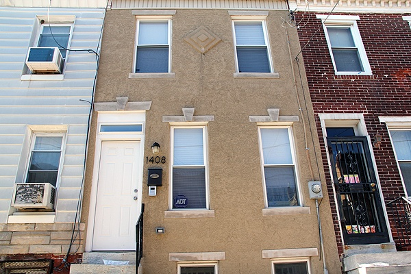 <p>This home on South Chadwick Street appears to be recently renovated and currently occupied. Investigators say it was stolen. (Emma Lee/for NewsWorks)</p>