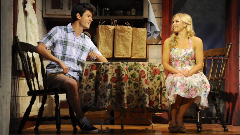 Chris McCarrell and Chelsea Packard in Buck County Playhouse's