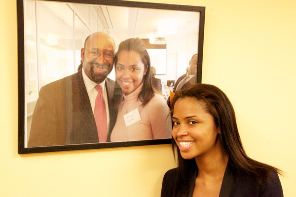 <p>&lt;p&gt;Summer Search student Tiara Willis, 21, is attending Community College of Philadelphia. She is shown standing in front of her photo with Philadelphia Mayor Michael Nutter.&#xA0;(Nathaniel Hamilton/for NewsWorks)&lt;/p&gt;</p>