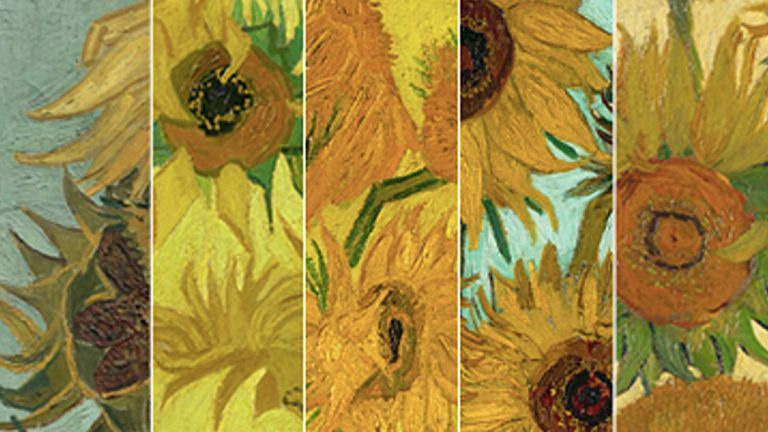 Only five of the original six van Gogh sunflower paintings are still in existence. One of them is in Philadelphia. (Promotional image provided by the Philadelphia Museum or Art)