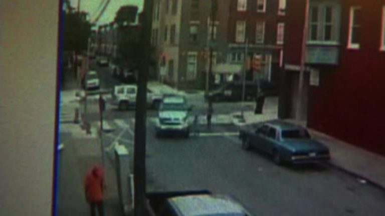 Surveillance footage just before the hit-and-run. (Courtesy of NBC10)